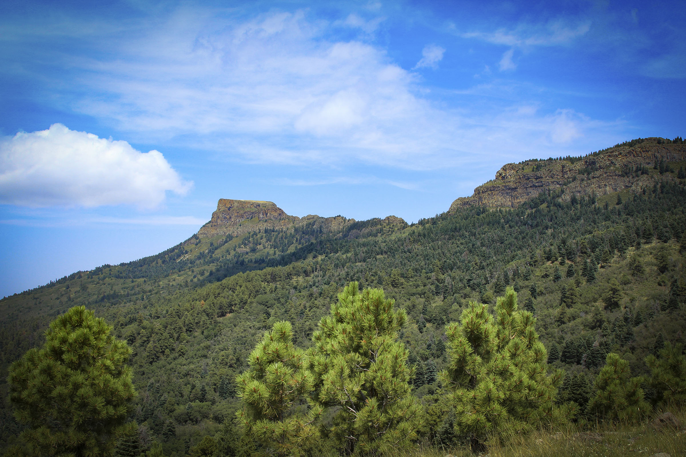 <p>Fisher's Peak is the most prominent part of the 30-square-mile Crazy French Ranch outside of Trinidad, Colorado.</p>
