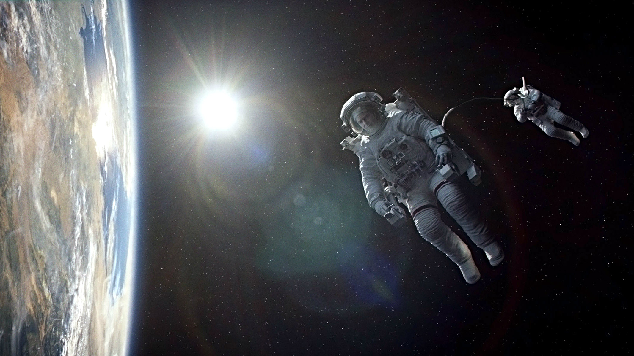 """<p>This film image released by Warner Bros. Pictures shows a scene from """"Gravity.""""</p>"""