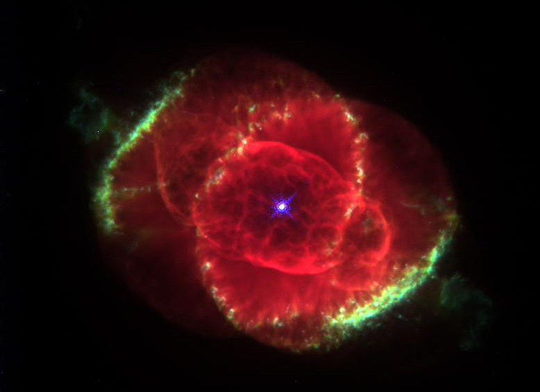 <p>Mysterious stellar fireworks create expanding gas shells and blowtorch-like jets which form a spectacularly intricate andsymmetrical structure.</p>