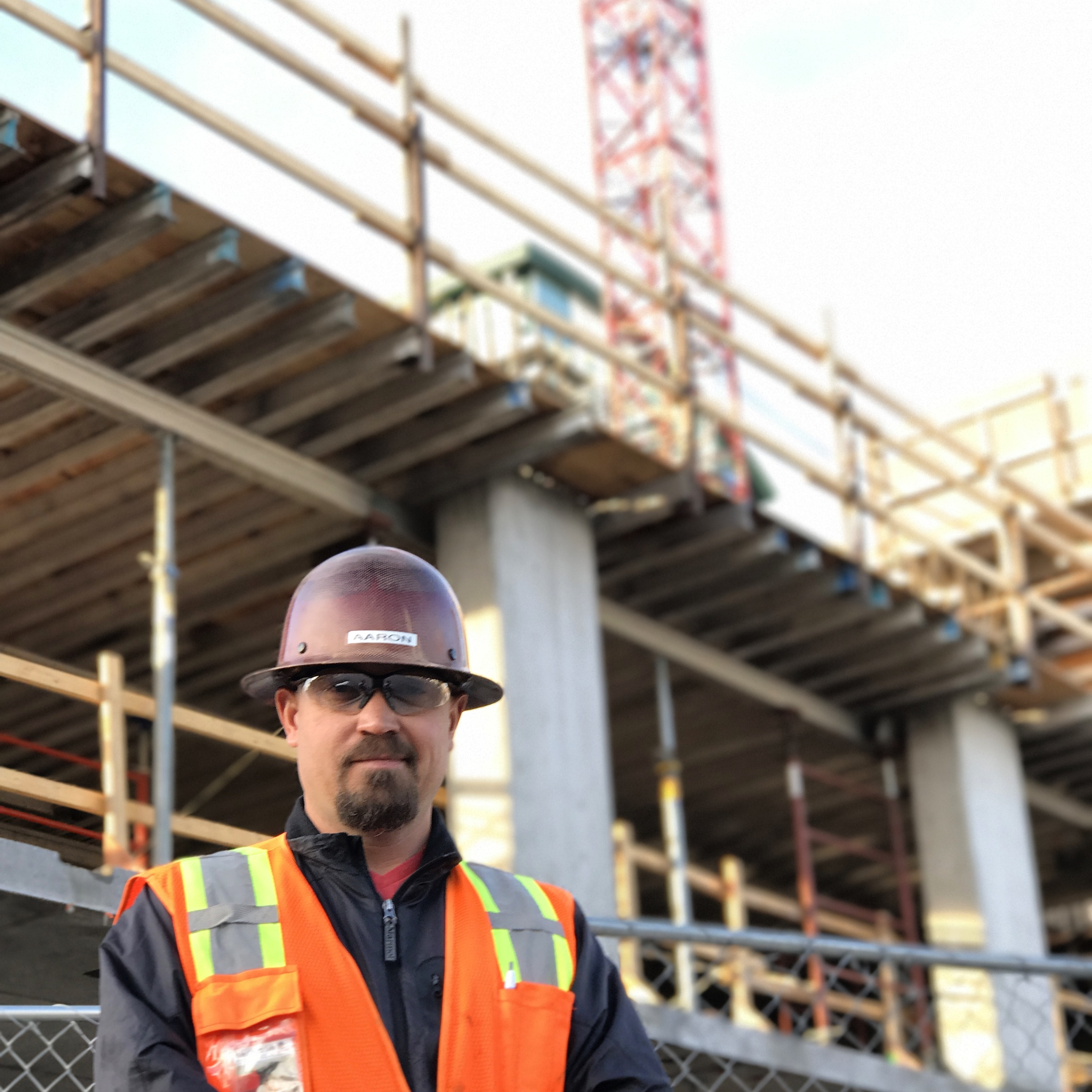 <p>Aaron Genova operates a crane for RMS Cranes, which is based in Denver.</p>