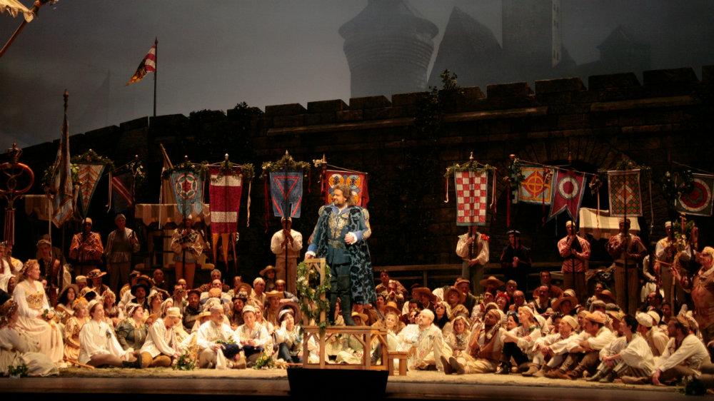 """<p>A scene from Wagner's """"Die Meistersinger von Nurnberg.""""</p>"""