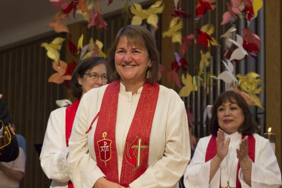 <p>Karen Oliveto was elected Resident Bishop of the Mountain Sky area, which includes Colorado, in July.</p>