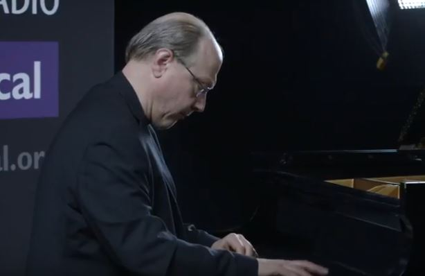 <p>Pianist Marc-Andre Hamelin in the CPR Performance Studio.</p>