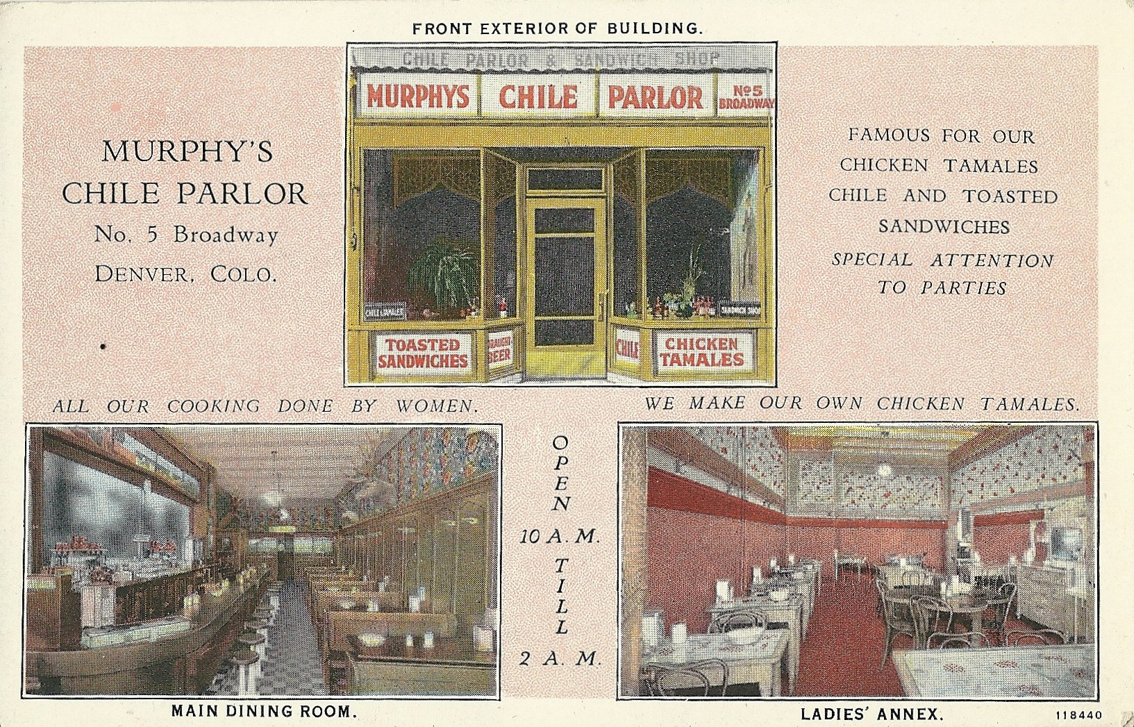 <p>An ad for Murphy's Chili Parlor at 5 Broadway in Denvercirca 1920s.</p>