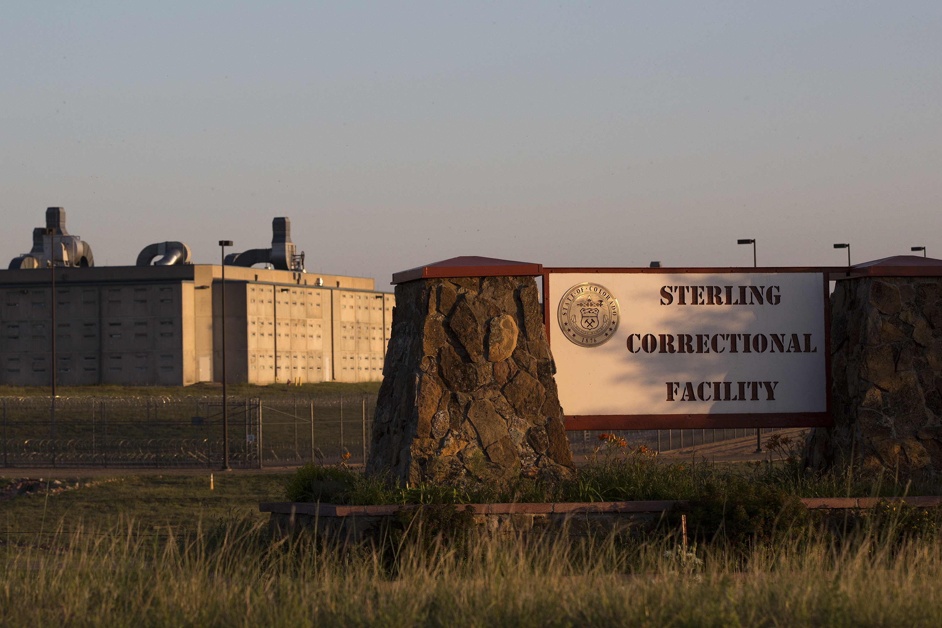 The Sterling Correctional Facility on the outskirts of Sterling in early August 2018. It's the largest prison in the Colorado Department of Corrections system.