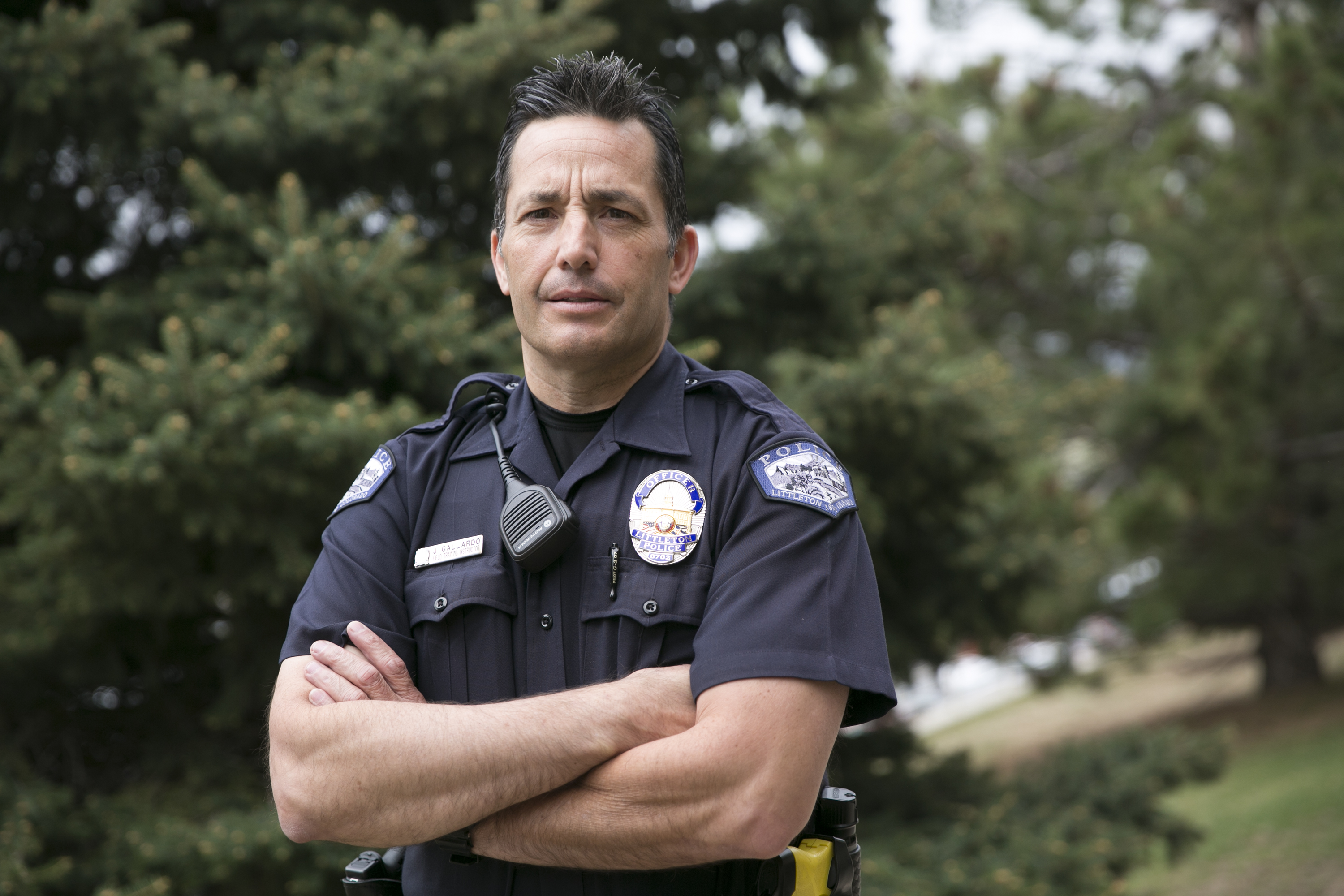 <p>Officer Jason Gallardo, who works at Littleton High School, spoke with Colorado Matters about his experiences in these times of heightened fears.</p>