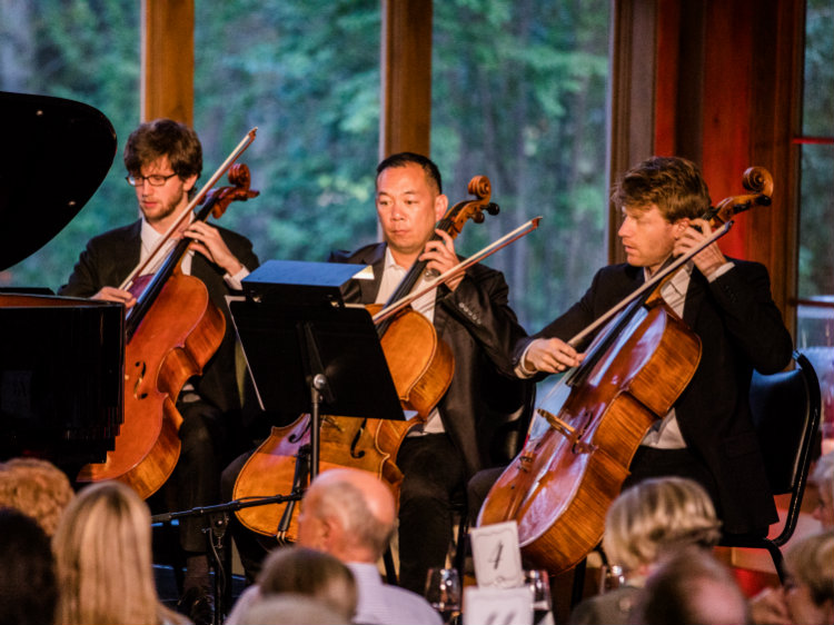 """<p>The cello section performs during the world premiere of David Ludwig's """"Pangaea"""" at Bravo! Vail. The music is one of several piece featured on the upcoming season of the Centennial Sounds podcast.</p>"""