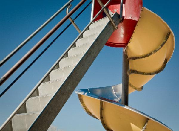 <p>A slide in La Junta, Colo.</p>