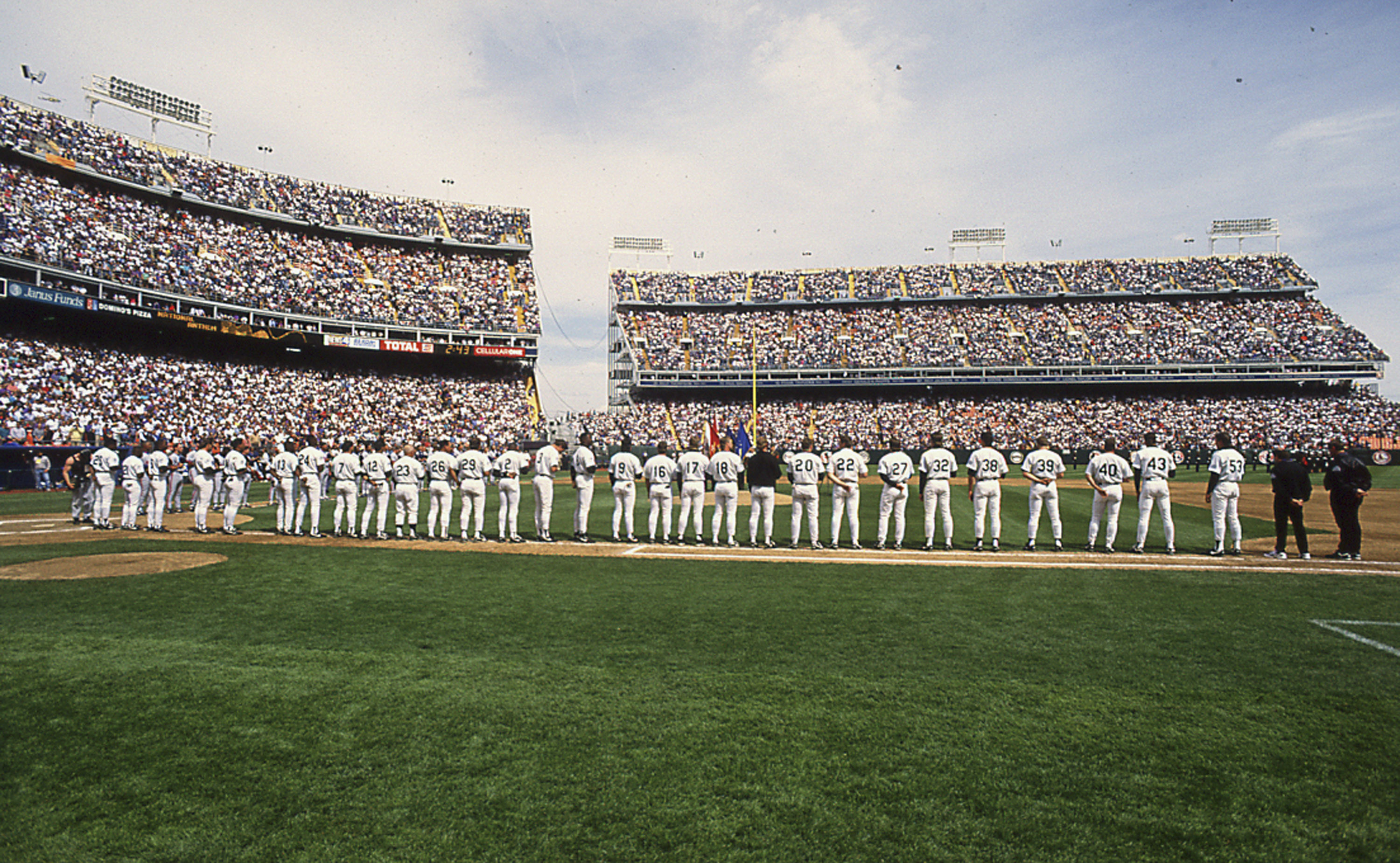 <p>The Colorado Rockies played their first two seasons, in 1993 and 1994, at Mile High Stadium.</p>