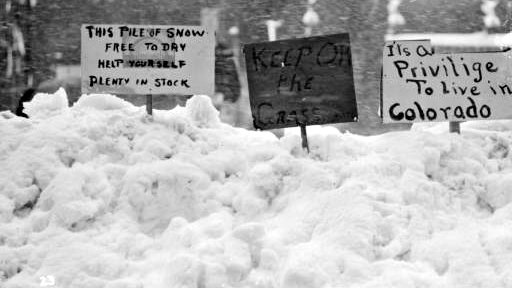 A few signs that appeared after the Blizzard of 1913.