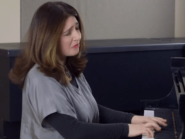 <p>Pianist Simone Dinnerstein in the CPR Performance Studio.</p>