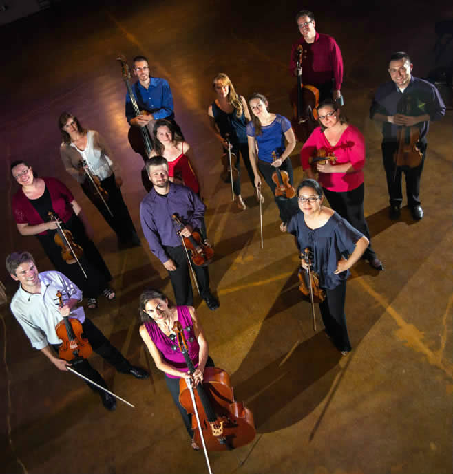 <p>Sphere Ensemble, a conductorless string ensemble based in the Denver area.</p>