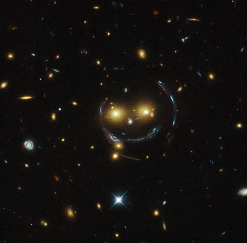 <p>The space agency NASA posted this image from the Hubble Telescope.</p>