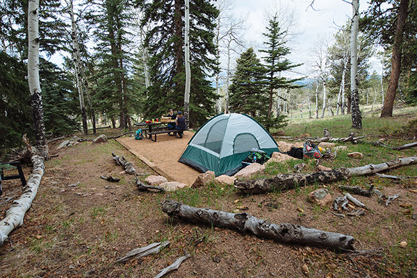 <p>A backcountry-style campsite on Staunton State Park, which is located in Jefferson and Park counties, 6 miles west of Conifer. The 3,908-acre park, which opened on May 18, 2013, is one of the five parks taking part in the reservation-only pilot program this year. </p>