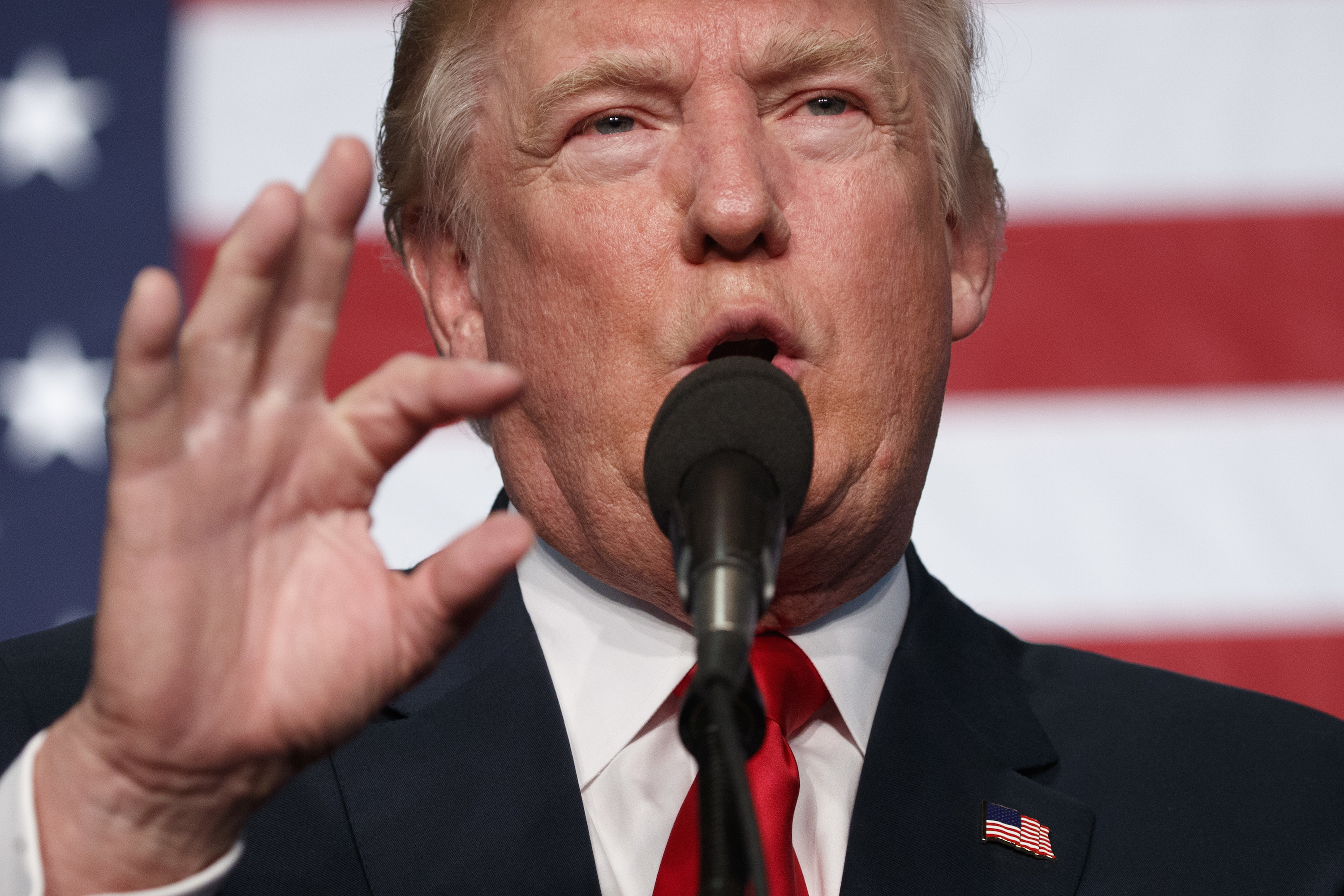 <p>Donald Trump speaks during a campaign rally at the Jefferson County Fairgrounds on Saturday, Oct. 29, 2016, in Golden.</p>