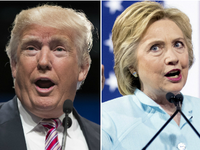 <p>Donald Trump and Hillary Clinton.</p>