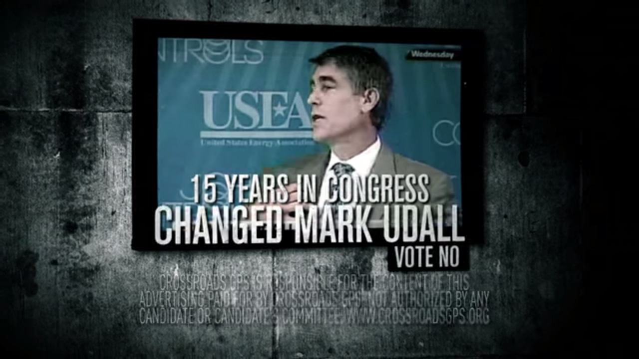 """<p>Crossroads GPS, a political action committee, is spending millions of dollars on ads, <a href=""""http://www.youtube.com/watch?v=5ShVLMaEglU"""" target=""""_blank"""" rel=""""noopener noreferrer"""">including this one</a>, criticizing Sen. Mark Udall.</p>"""