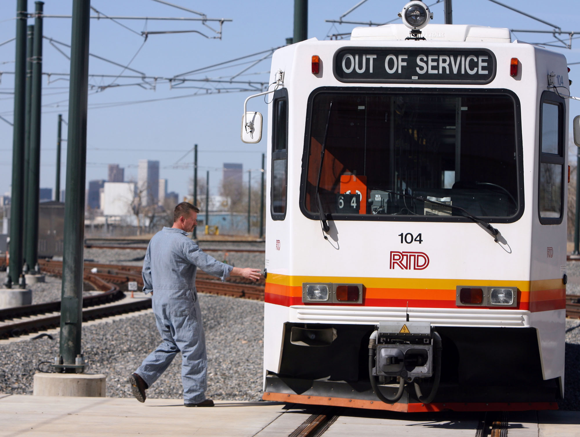 WORKER RTD LIGHT RAIL TRAIN