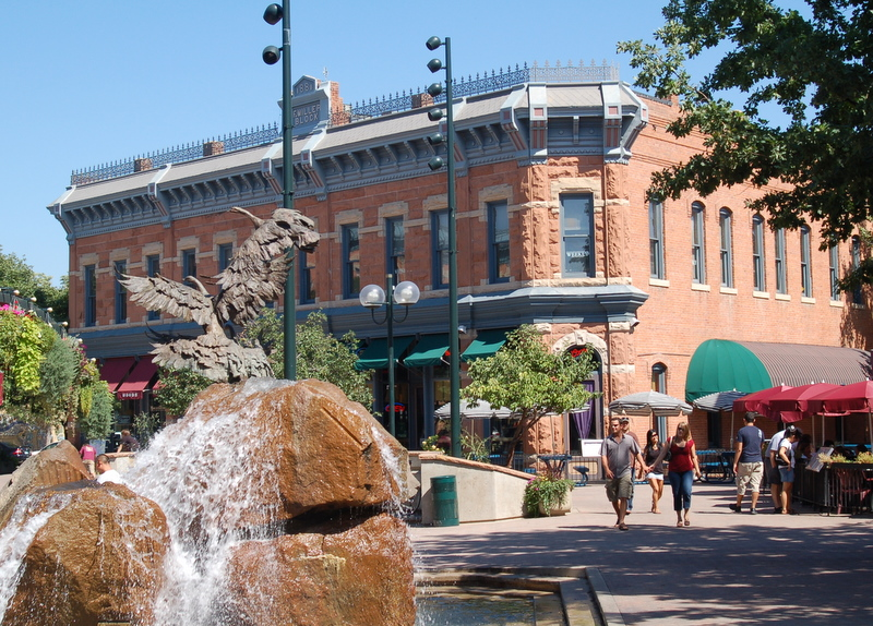 <p>Old Town in Fort Collins, Colorado.</p>