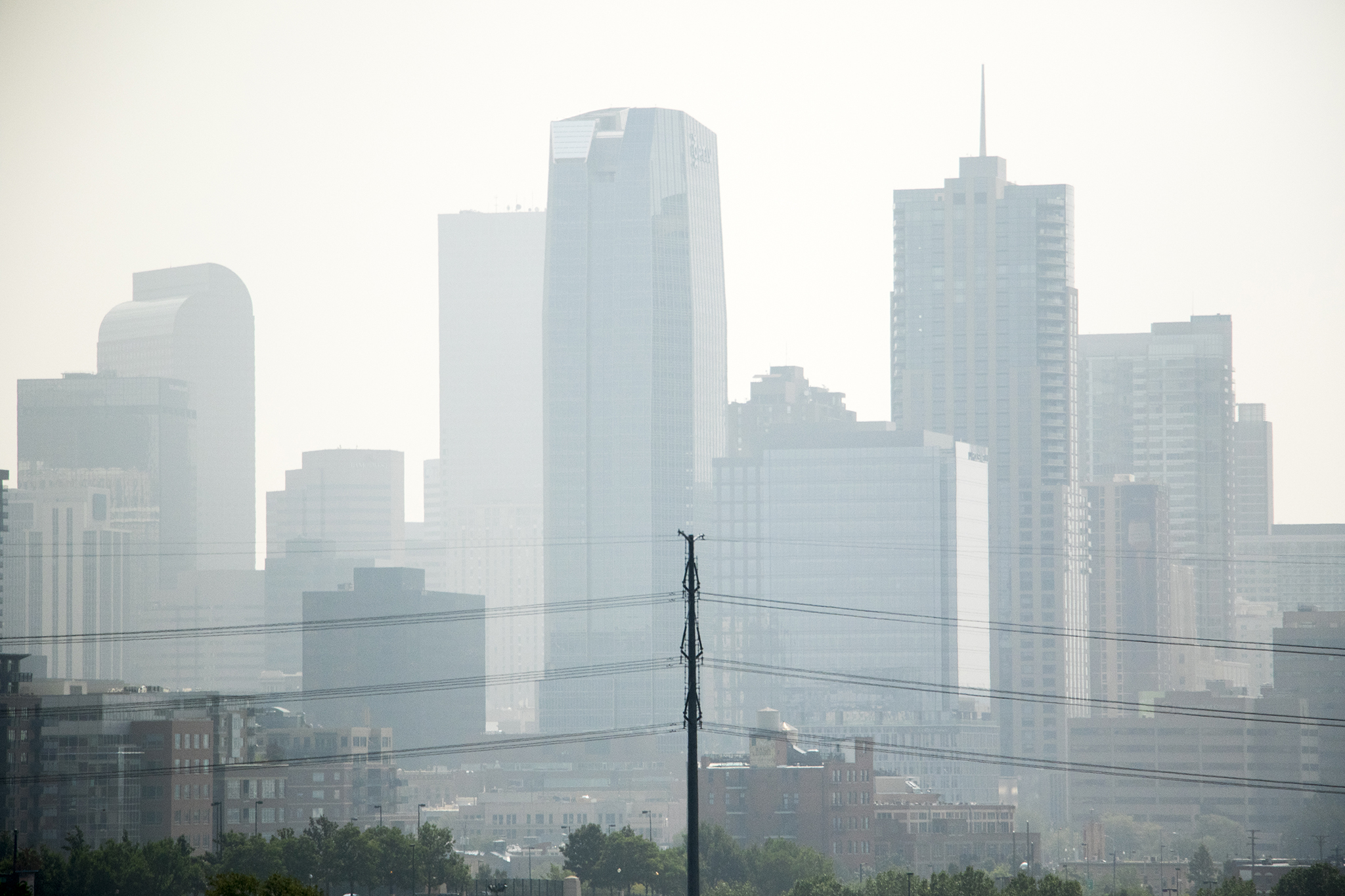 <p>Denver's air quality is visibly not great on Aug. 20, 2018.</p>