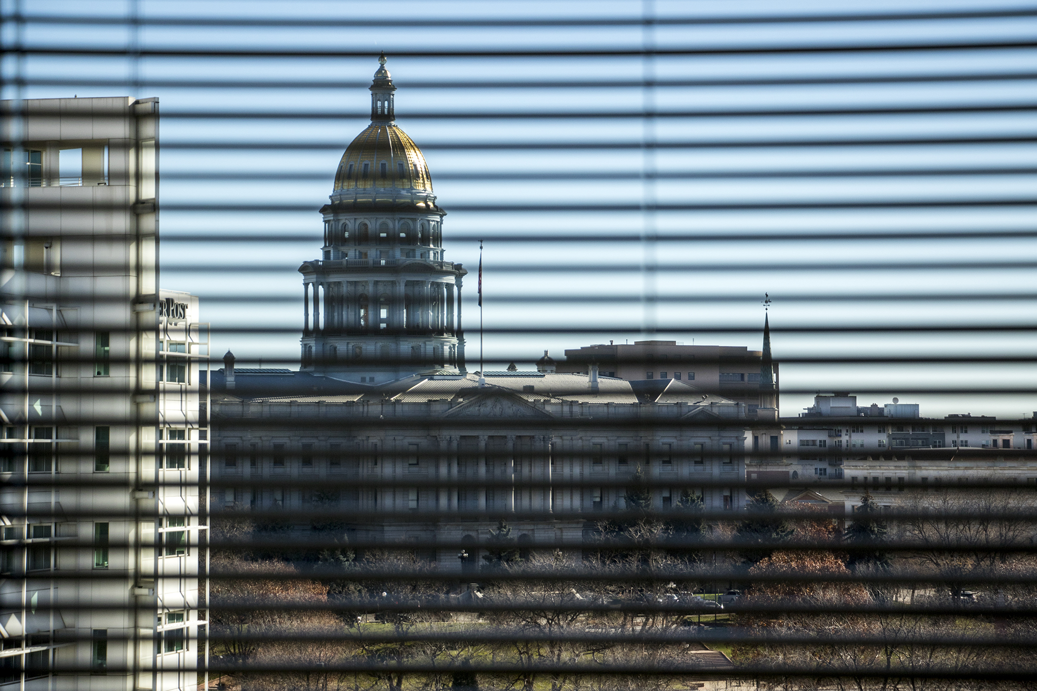 <p>A view of the west face of the Colorado State Capitol, Nov. 20. 2018.</p>