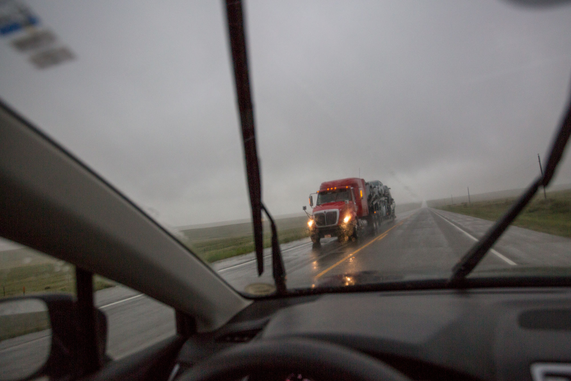 <p>A truck headed north on Hwy 287 near the Eastern Plains town of Lamar on May 20, 2019. </p>