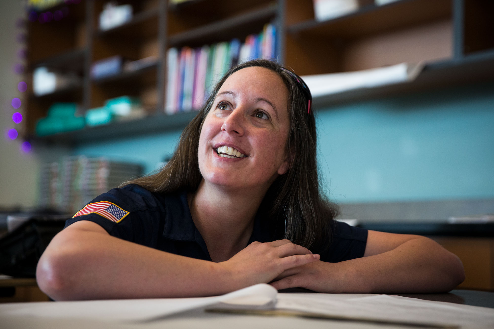 <p>Jessi Warthen served three tours of duty as a U.S. Marine in Iraq. Now she's a student teacher at Metro State. </p>