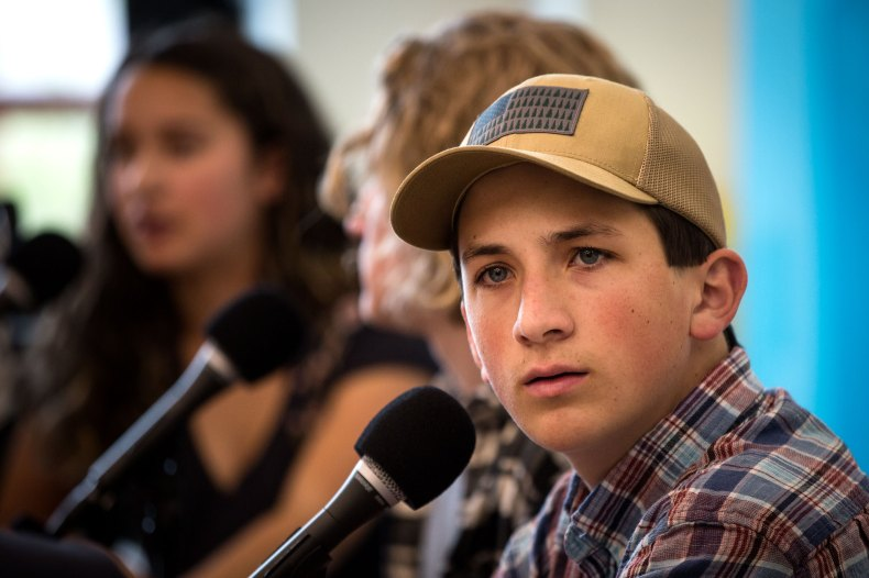 Photo: STEM Shooting Student Panel Colorado Matters 2 HV