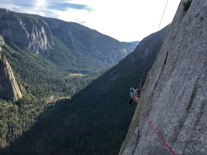 Yosemite Child Rock Climber