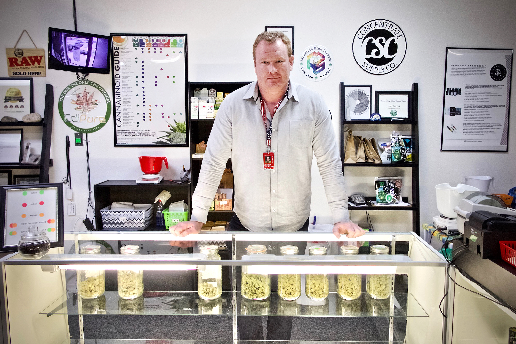 Andrew Heaton runs the medical marijuana dispensary WTJ MMJ Supply in Colorado Springs. He said he believes legal recreational marijuana in the city could actually deter active duty soldiers from using pot.