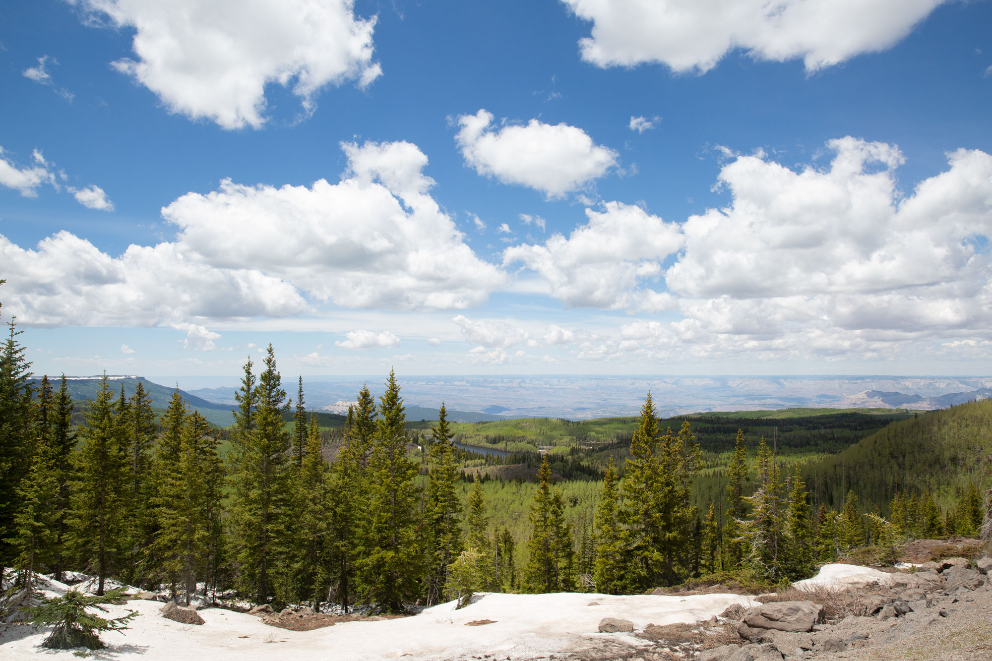 <p>The view from Skyview Point along the Grand Mesa Scenic Byway.</p>