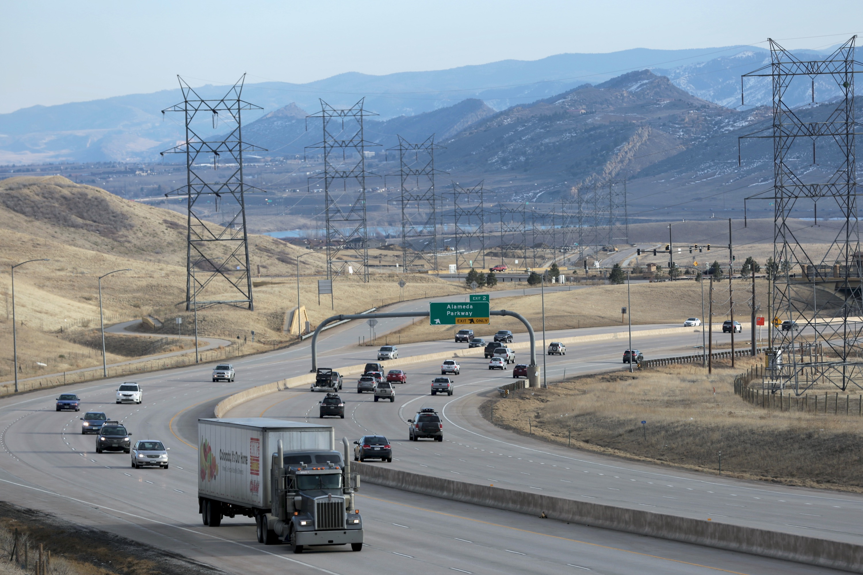<p>The C 470 highway looking south from Hayden Green Mountain Park near Interstate 70 on Sunday March 10, 2019.</p>
