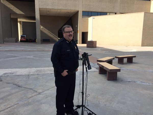 <p>Matt Murray, Dept Chief Denver Police Department, responds to media questions regarding a lawsuit filed by theDenver Police Protective Association.</p>