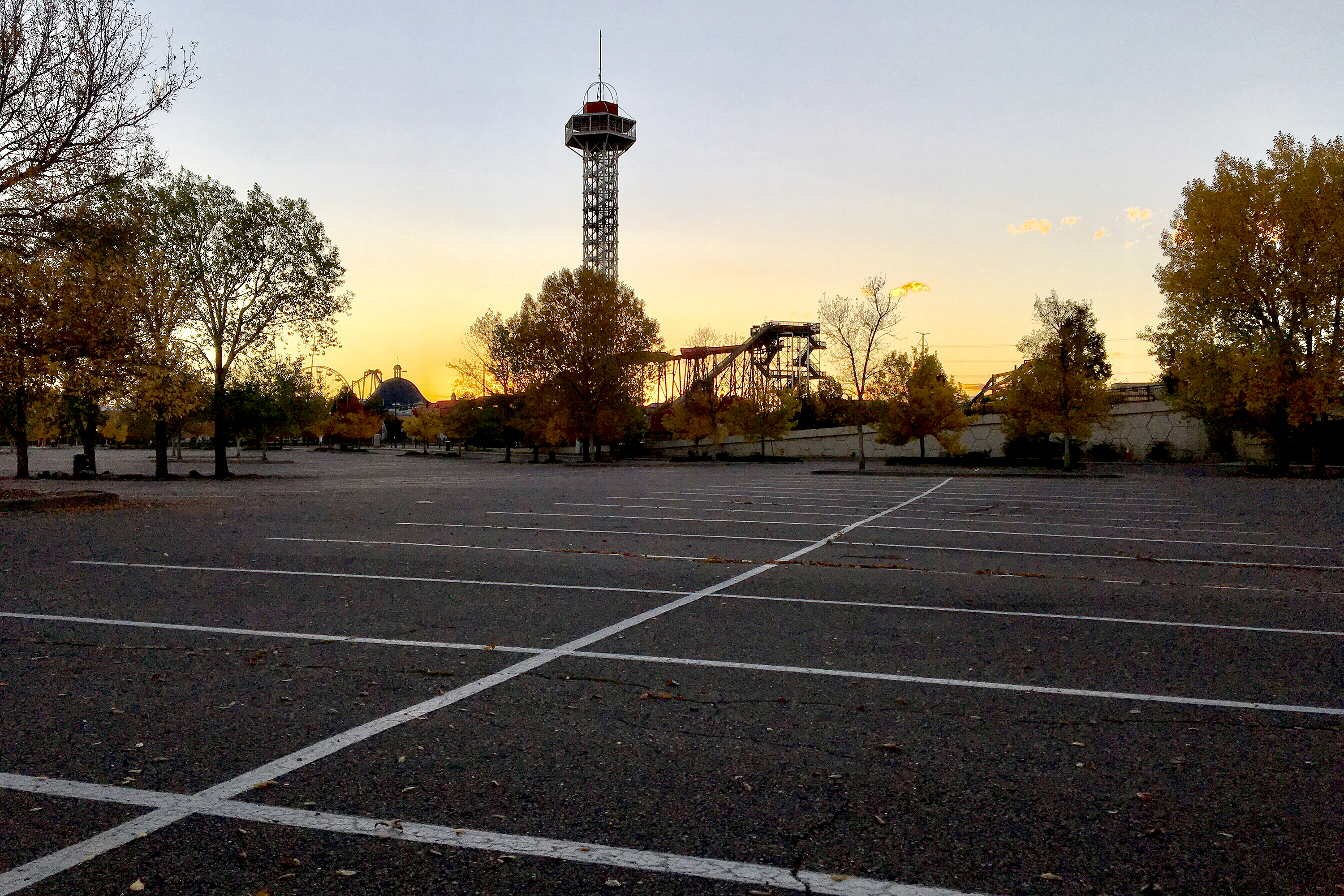 The Elitch Gardens parking lot.