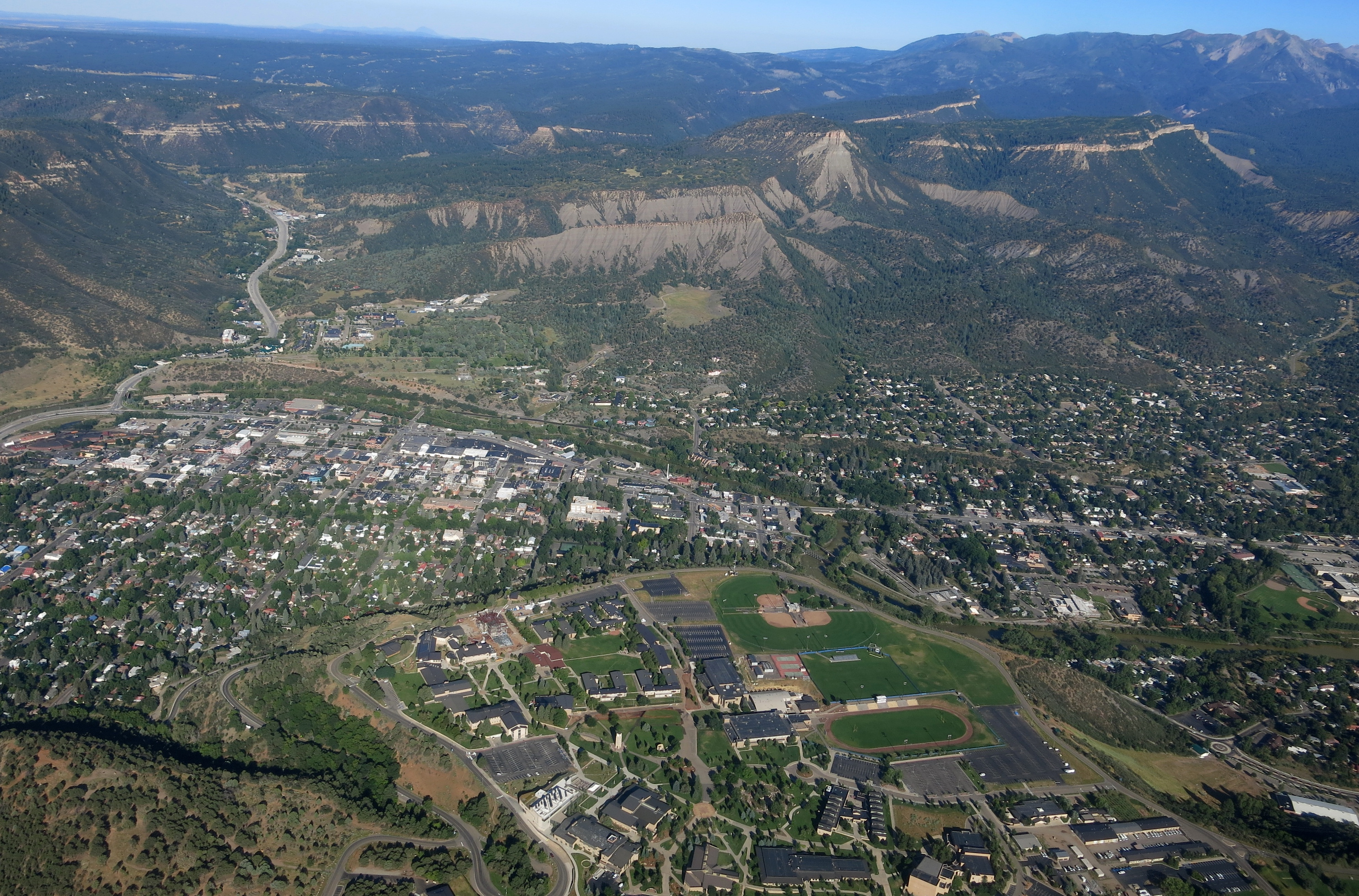 Durango on Aug. 9, 2015. The Animas River flows through the city.