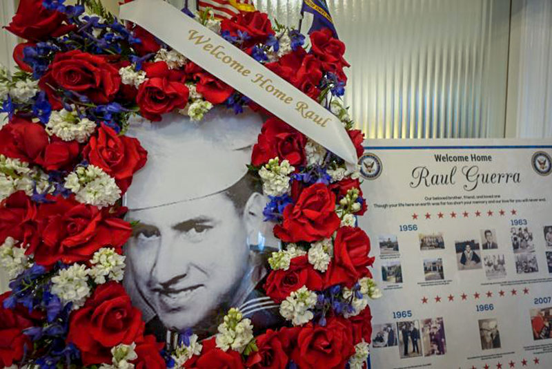 <p>Fifty-two years after he died in a Vietnam plane crash, Raul Guerra's memorial service was held at Risher Mortuary in Montebello, Calif.</p>
