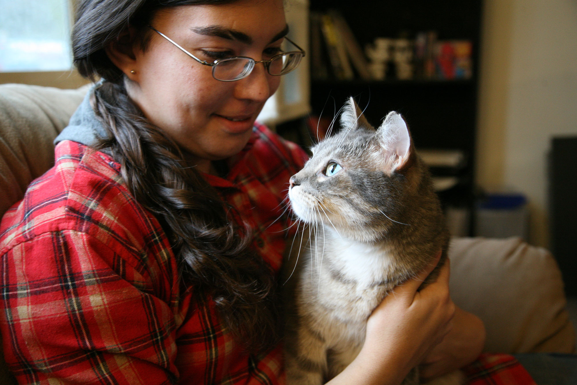 <p>A.J. White says his cats help him with depression and anxiety and are a large part of the reason he's ableto function in the world. He holds down a job at a local gas station and is planning to head off to college. He's hoping the cats can come, too.</p>