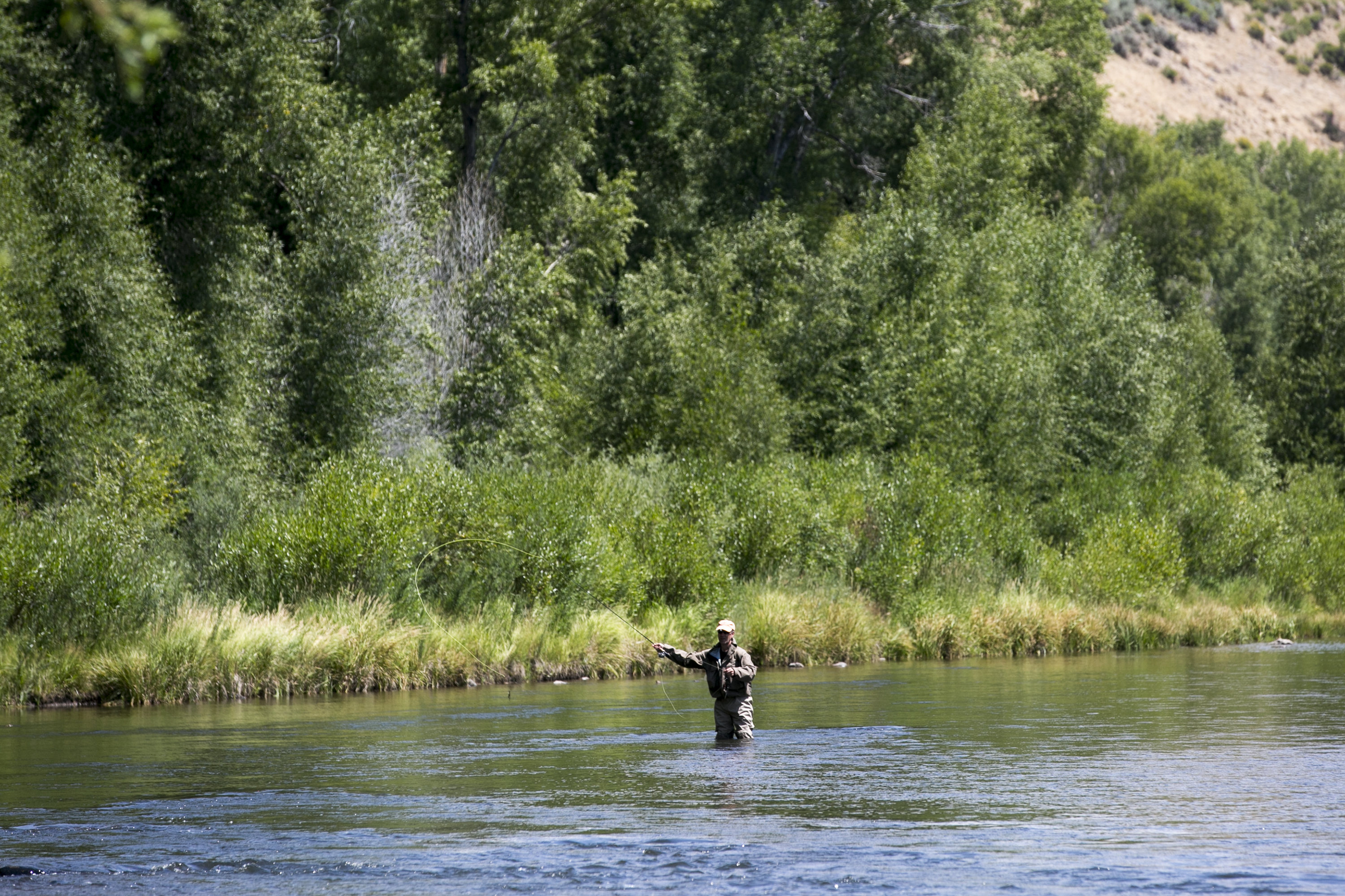 An angler on the Colorado River east of Kremmling.