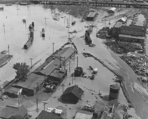 Photo Denver 1965 Flood 7 George Meister, Jr. 10 o'clock the morning after June 17 1965
