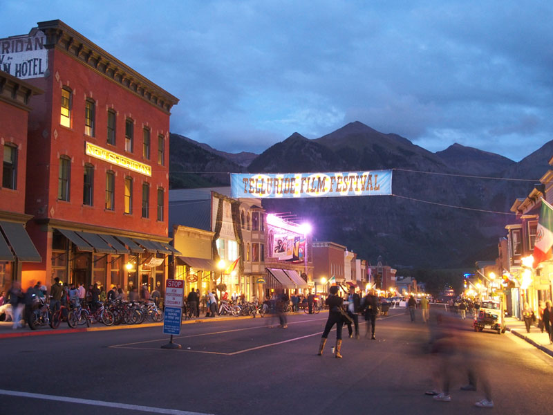 Main Street during a past Telluride Film Festival.