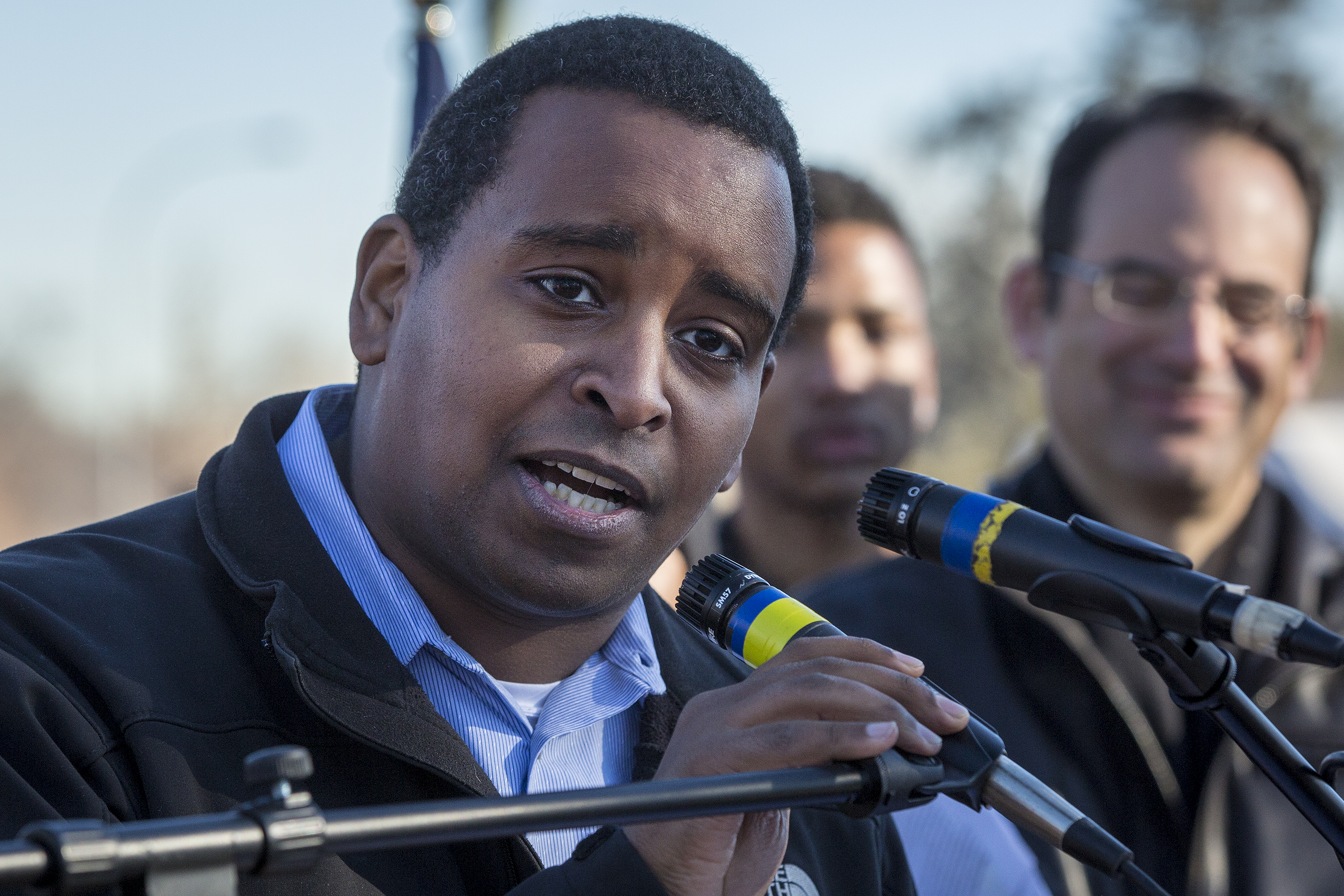 Rep. Joe Neguse at the 2019 Martin Luther King Day Marade in Denver Jan. 21.
