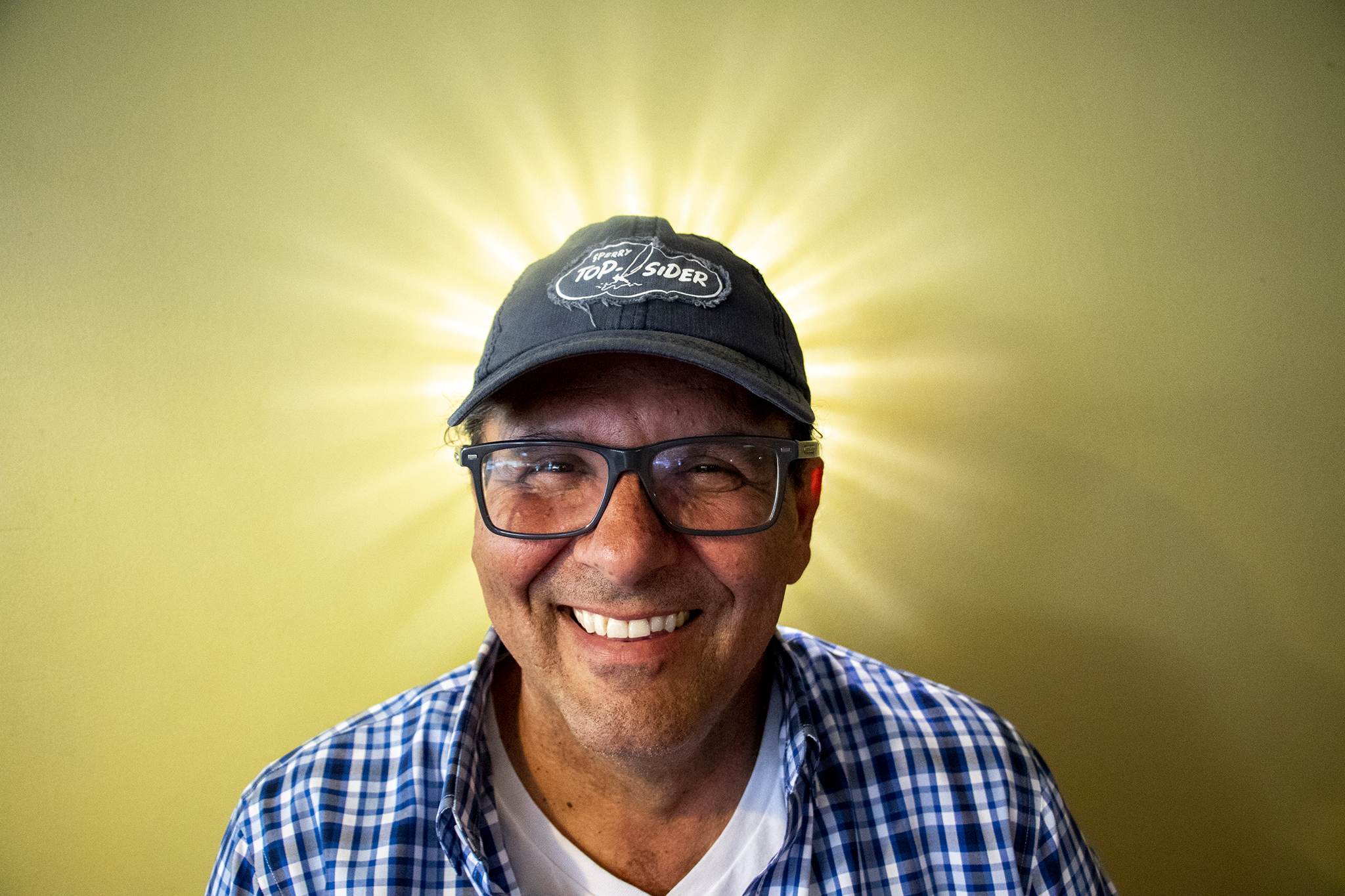 Tom Messina poses for a portrait inside Tom's Diner on East Colfax Avenue, North Capitol Hill, Aug. 15, 2019.