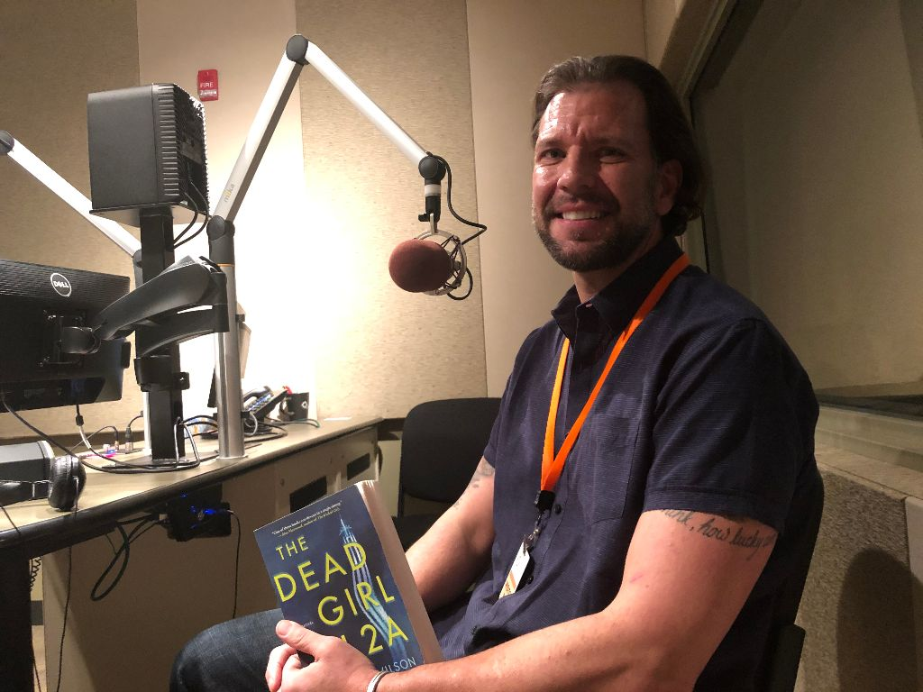 Author Carter Wilson in CPR's Studio 2A