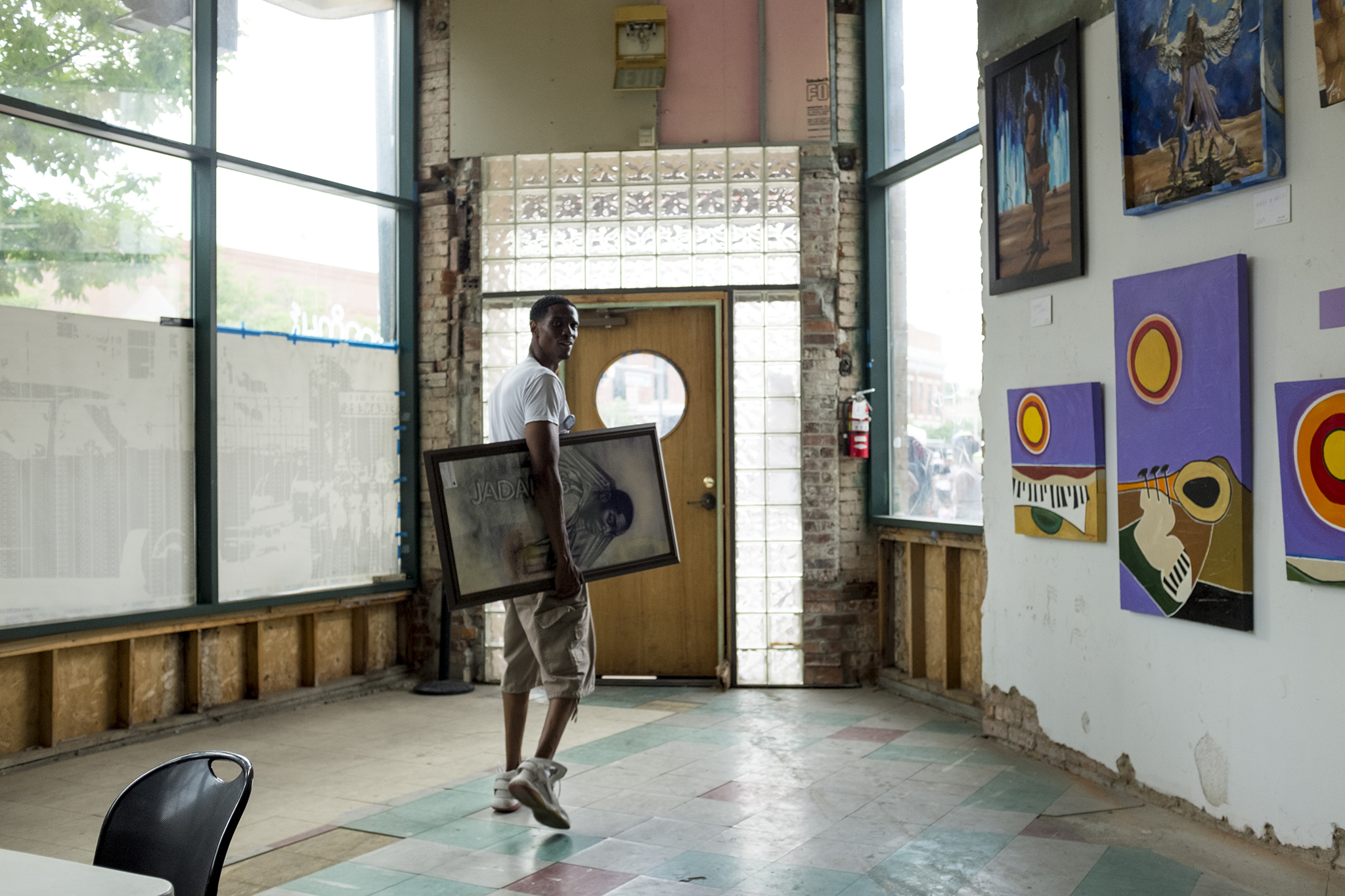 Norman Harris Jr. stands inside the Rossonian Hotel, of which he is a development partner, during Five Points' annual Juneteenth celebration, June 16, 2018.
