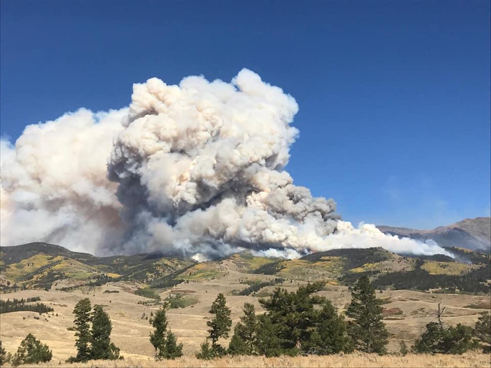 The Decker fire, burning in the Sangre de Christo Wilderness area. 9/30/19