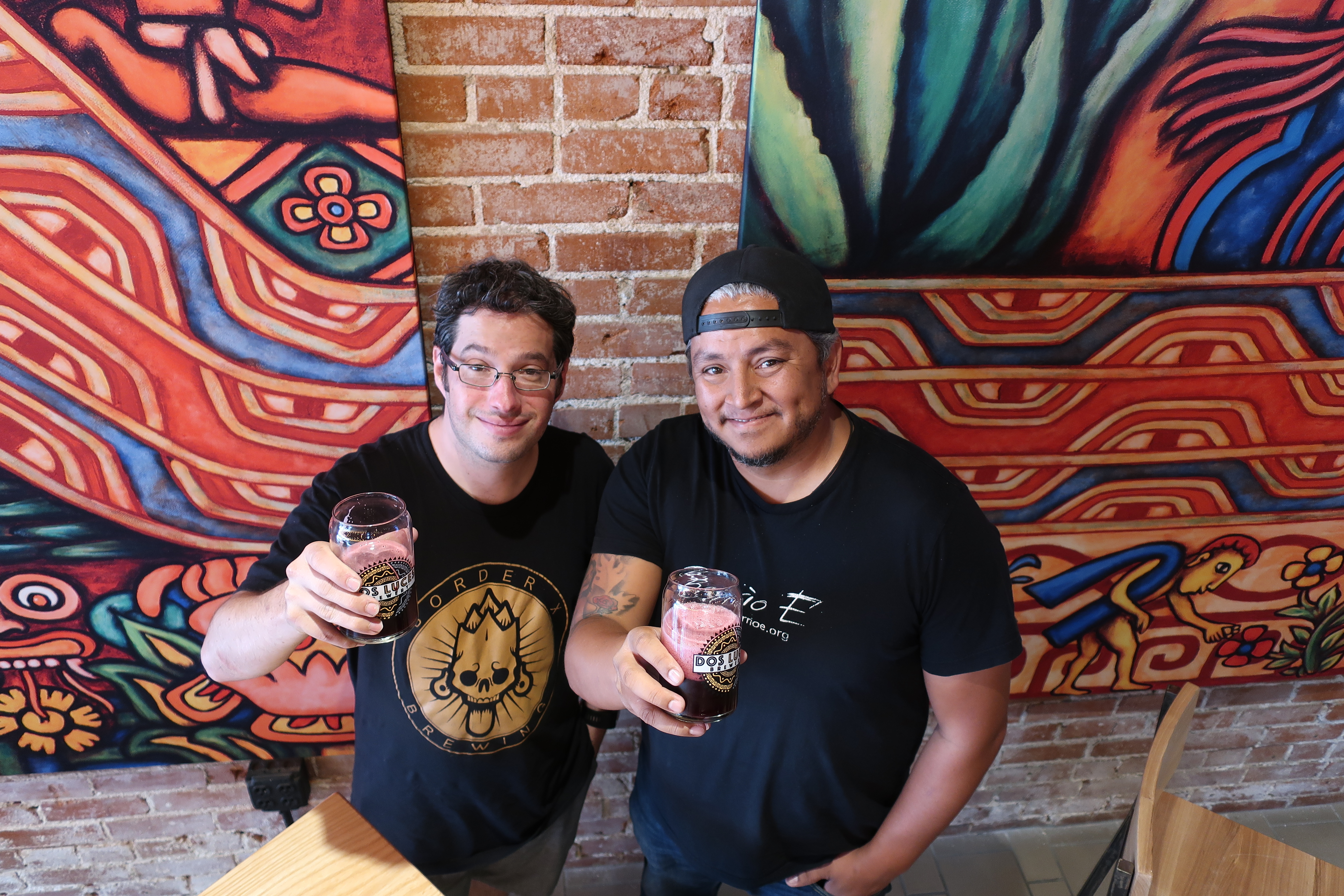 Judd Belstock, owner of Dos Luces Brewery and Jose Beteta, owner of Raíces Brewing Co. Beteta is also the founder of Suave Fest, a Latin beer festival happening in Denver, Sept. 14, 2019.