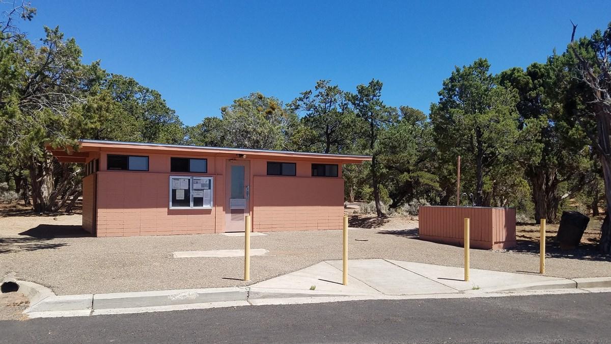 A national park bathroom facility