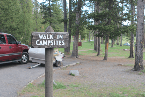 Norris Campground in Yellowstone National Park.