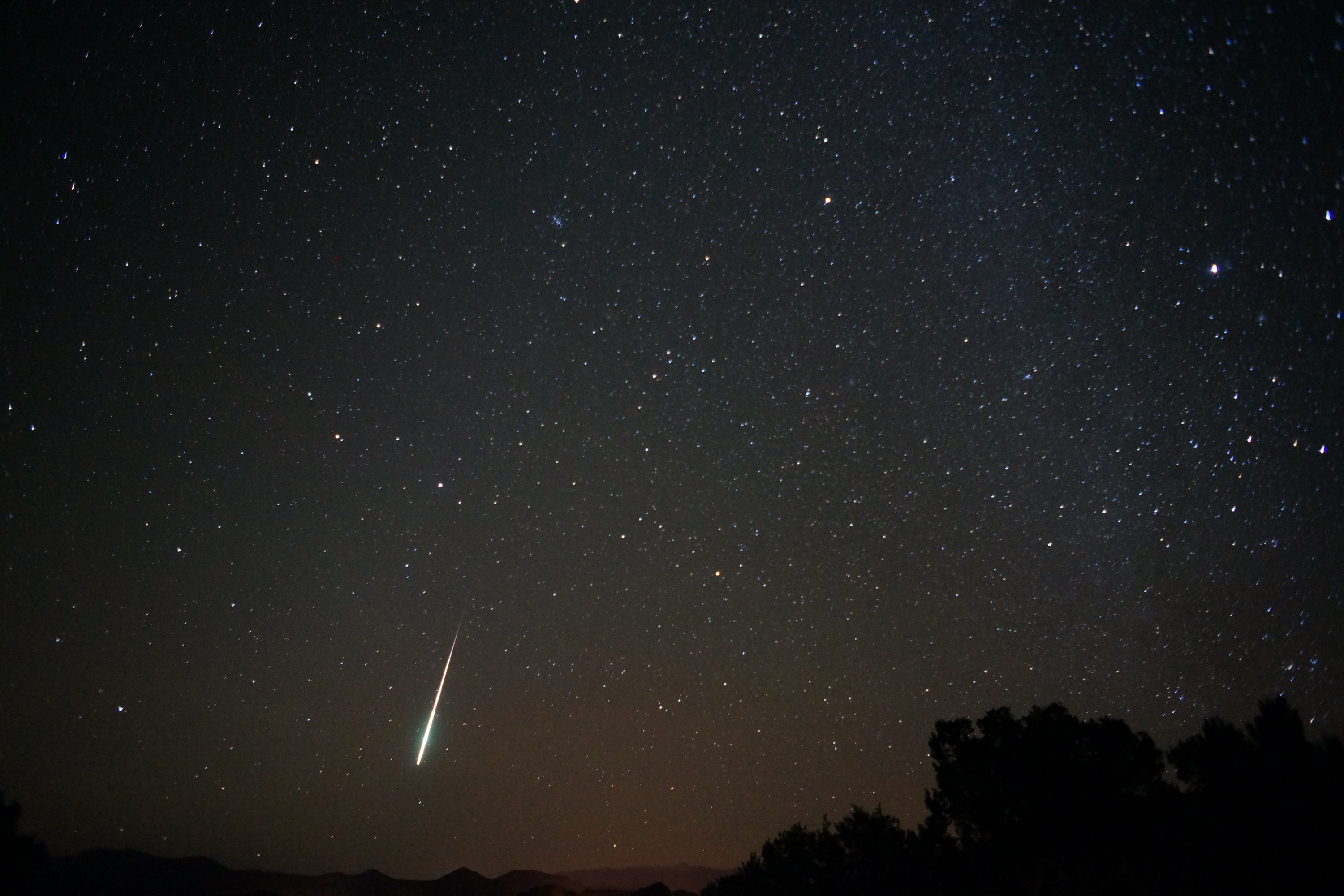 A Taurid meteor shower fireball captured in New Mexico on Nov. 12, 2012.