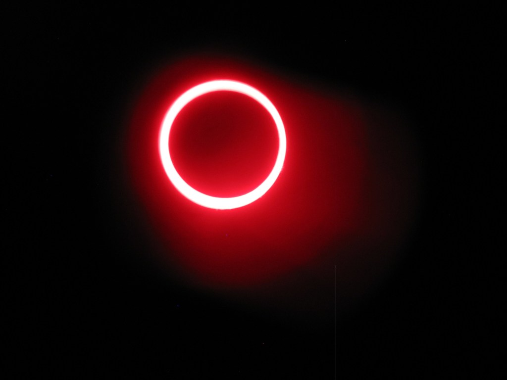 Ring of fire. Annular solar eclipse of May 20, 2012. Shot taken from Bryce Canyon, Utah.